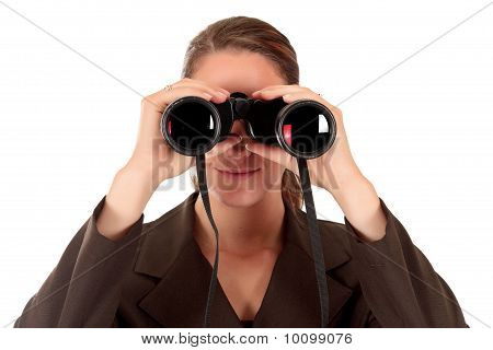Businesswoman Binoculars