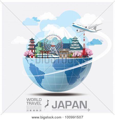 Japan Landmark Global Travel And Journey Infographic
