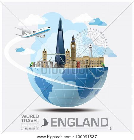 England Landmark Global Travel And Journey Infographic