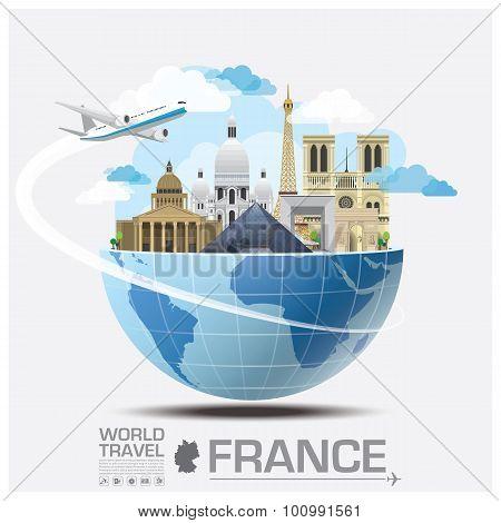 France Landmark Global Travel And Journey Infographic