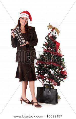 Businesswoman Christmas Tree