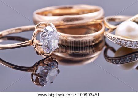 Various Women's Gold Rings