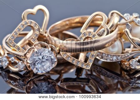 Various Women's Gold Jewelry