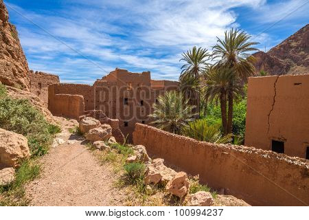 Africa, Morocco - Old kasbah in tinghir valley