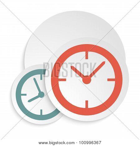 Clock-icon-isolated-white-background