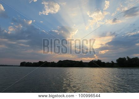 Sunrise in Danube Delta