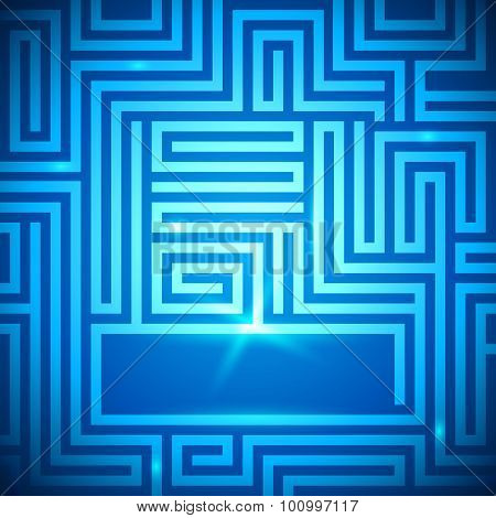Maze-bright-light-dark-blue-background
