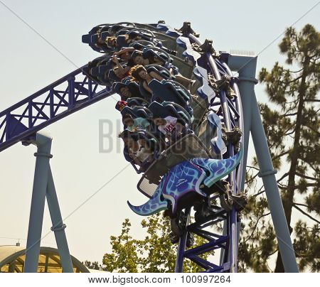 A Manta Roller Coaster Ride, Seaworld, San Diego