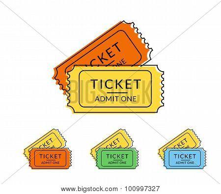 Two retro tickets