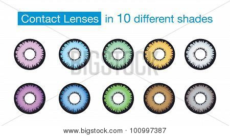 Eye color contact lens collection