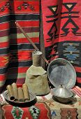 pic of tabriz  - Old macedonian ornament and dishes on the market - JPG