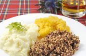 foto of haggis  - Haggis neaps and tatties or haggis turnip and potoato - JPG