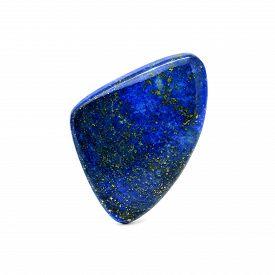 foto of lapis lazuli  - Natural Lapis Lazuli Stone on a white background - JPG