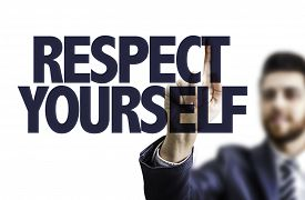 foto of respect  - Business man pointing the text - JPG