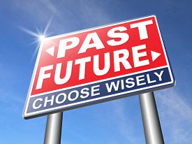 foto of past future  - past future prediction and forecast near bright future fortune telling and forecast evolution and progress and innovations - JPG