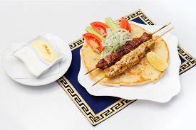 image of souvlaki  - Souvlaki or kebab - JPG