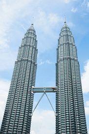 pic of petronas towers  - KUALA LUMPUR MALAYSIA  - JPG