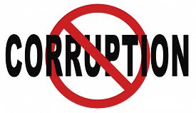 picture of corruption  - stop corruption fraud and bribery political or police can be corrupt