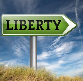 stock photo of freedom speech  - liberty freedom democracy and human rights free of speech
