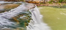 picture of cataracts  - Mill Creek flows over Own County Indiana - JPG