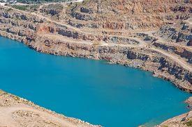 picture of open-pit mine  - Open pit mine in Balaklava near Sevastopol city - JPG