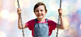 stock photo of swing  - summer - JPG