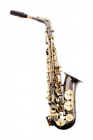 picture of wind instrument  - classical music wind instrument saxophone - JPG