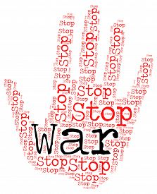 image of stop fighting  - Stop War Meaning Warning Sign And Fighting - JPG