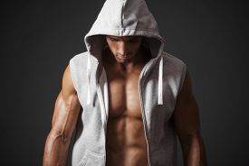 picture of hoods  - A man in a sports jacket with a hood - JPG