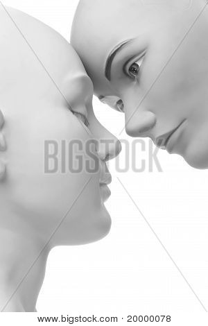 llovely image of two female mannequins