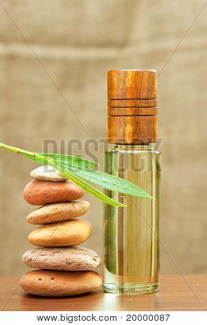 huile essentielle spa et chauffage pierres