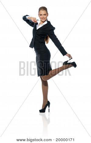 Frau Manager im Anzug