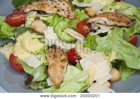 Caesar salad close up