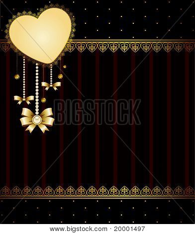 Beautiful background with lace ornaments