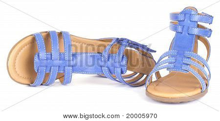 Blue children's maiden sandal
