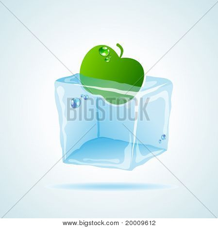 Apple in ice