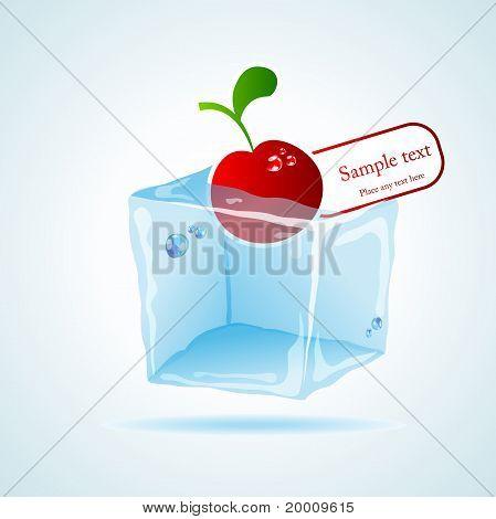 Cherry in ice