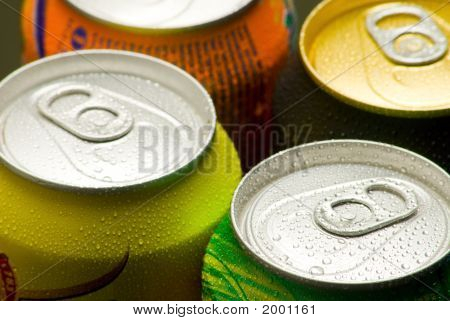 Cans Of Cool Soft Drink ( Top View )