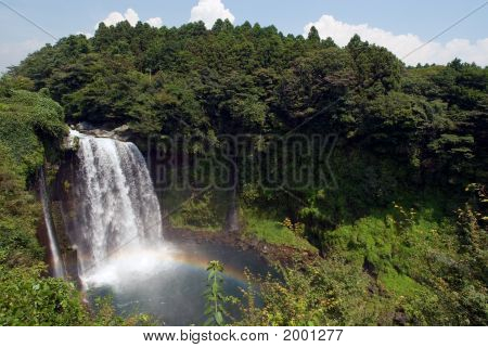 Otodome Waterfall In Lush Greenery