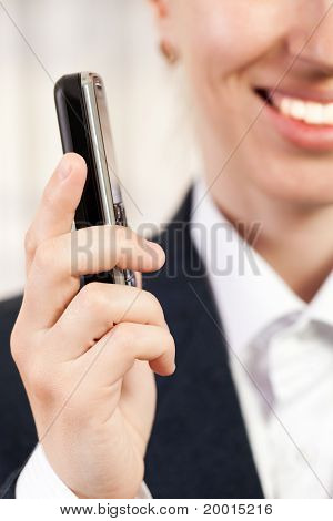 Mobile Phone In Women Hand
