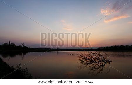 Tranquil Scene Of Sunset