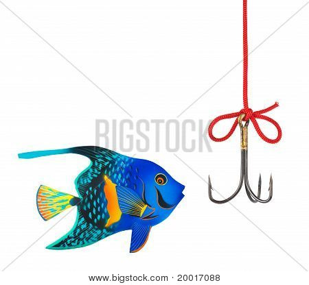 Fishing Hook And Fish