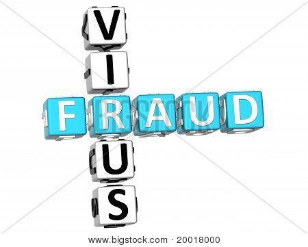 Palavras cruzadas de fraude de vírus