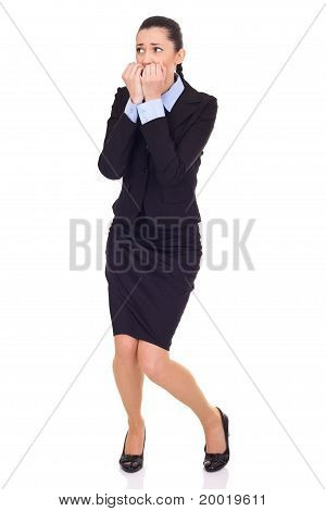 Afraid Businesswoman