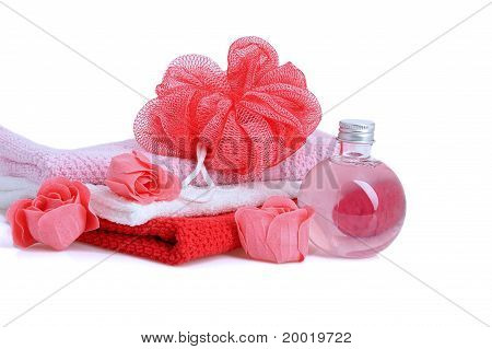 Red Items For Bath