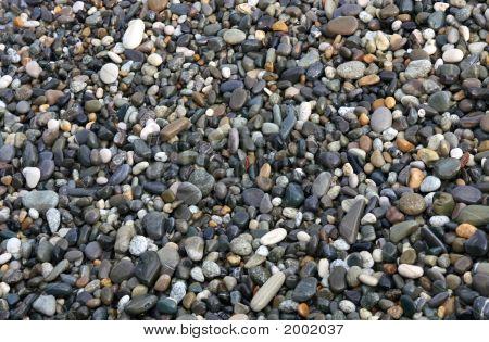 Wet Sea Pebbles