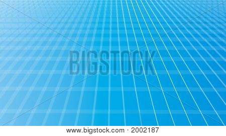 Perspective Grid Blue Background