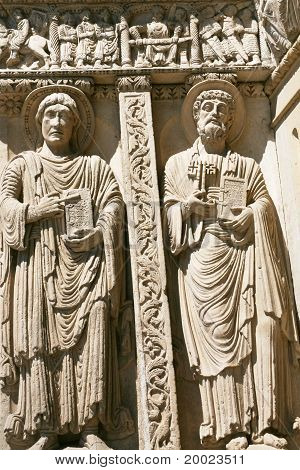 Romanesque Sculptures Of Apostles