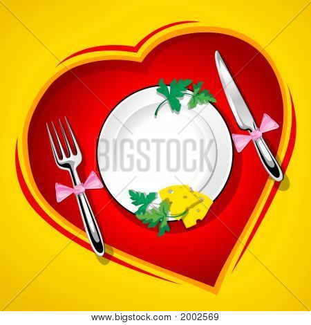 Served Table On The Heart