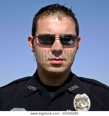 Police Officer Wearing Sunglasses